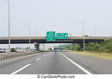 Exit 8A New Jersey Turnpike I-95 Road Sign Arrow - Exit 8A...