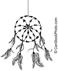 The dream catcher icon - Dream catcher icon, isolated object...