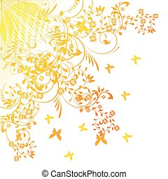 Floral background, element for design, vector illustration
