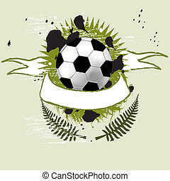 Football banner with the grunge balls background