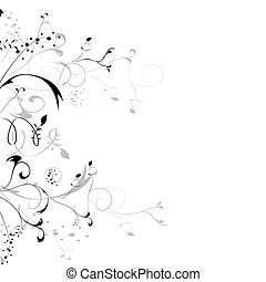 abstract floral element for design