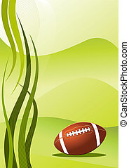 Vector american football background - Abstract american...