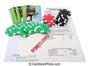 Bet the House Poker Chips Foreclosed Mortgage - Gambling...