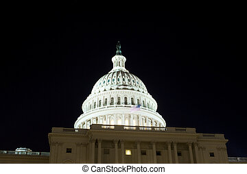 US Capitol Building Dome Night Washington DC USA - Dome of...