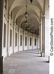 Curving Colonnade Reagan Building, Washington, DC, -...