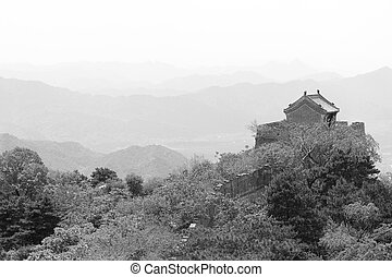 Guard Tower Mutianyu Great Wall Mountains Beijing - Guard...