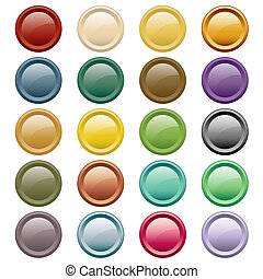Web buttons assorted colors - Web buttons in 20 round...