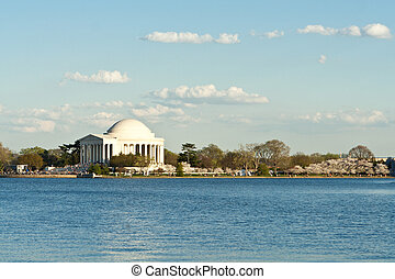 Jefferson Memorial Tidal Basin Washington, DC, USA - Sunset...