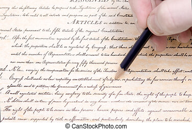 Editing First Amendment Pencil US Constitution - Editing the...