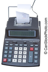 New Adding Machine, Tape Isolated LCD Display - Modern...