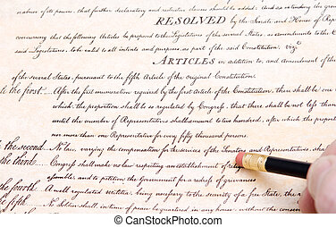 Editing Erasing First Amendment US Constitution - Erasing...