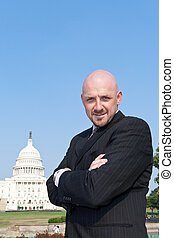 Confident Power Broker Lobbyist US Capitol - Confident...