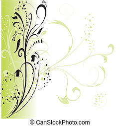 Abstract floral background, element for design.