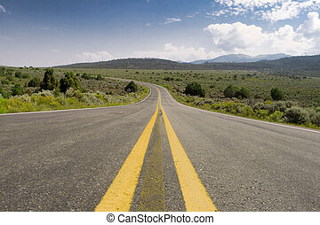 Middle of the Road Curve, High Desert, New Mexico - Middle...