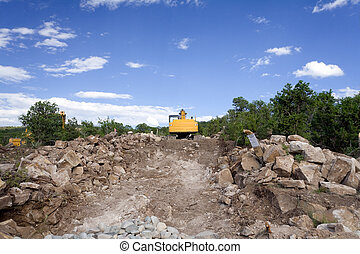 Front End Loader Construction Site Santa Fe NM - Front end...