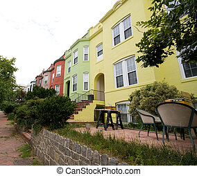 Italianate Row House Homes Washington DC - Solid color...