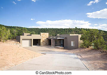 Adobe Single Family Home Suburban Santa Fe NM - New single...