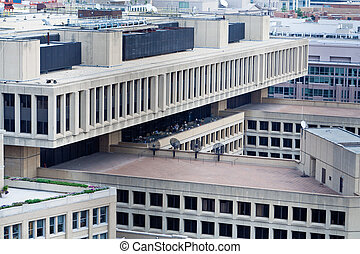 J Edgar Hoover FBI Building Above Washington DC - J Edgar...