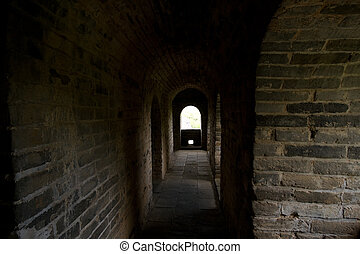 Inside Guardhouse Great Wall, Near Beijing, China - Inside a...