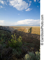 Rio Grande Gorge Bridge Taos New Mexico USA - Rio Grande...