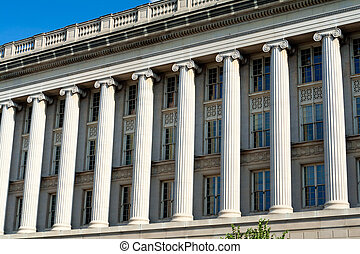 Facade Row Columns Commerce Building Washington DC - Front...