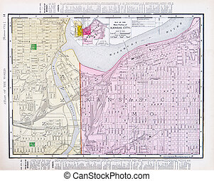 Street Map Kansas City Missouri Kansas City Kansas