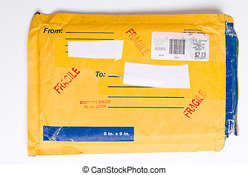 US Postal Service Mailer Envelope Package FRAGILE - Package...