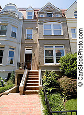 Richardsonian Romanesque Row House Home Washington
