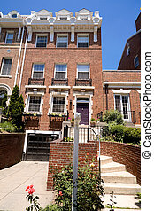 Elegant Federal Red Brick Row Home Washington DC
