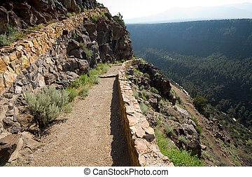 Hiking Path Rio Grande River Gorge Near Taos NM - Hiking...