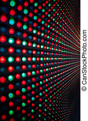 LED Screen - Close-up of the Matrix of a Screen made of...