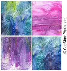 Beautiful watercolor background in soft pink, purple and blue