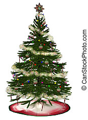 Christmastree - a beautiful Christmas tree - isolated on...