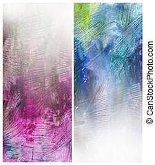 Beautiful watercolor background in soft blue and magenta