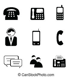 Telephone and communication Icons - Telephone and...