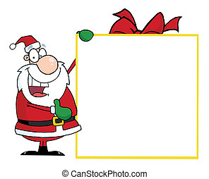 Santa With Big Gift