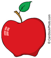 Cartoon Red Apple - Red Apple Cartoon Character