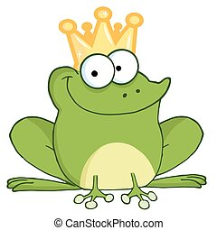Frog Prince - Happy Frog Prince Cartoon Character