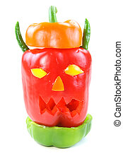Pepper monster - Monster head made with different type of...