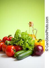 frais, Légumes, encore, vie