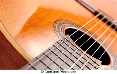 spanish guitar - Abstract image of spanish guitar with...