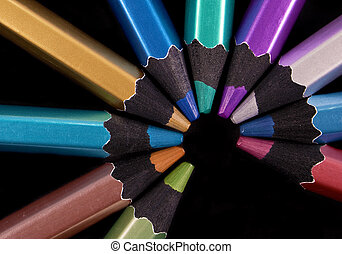 colored pencils - Background color with colored pencils