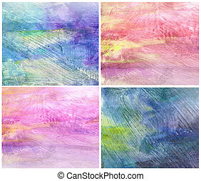 Beautiful watercolor background in soft magenta