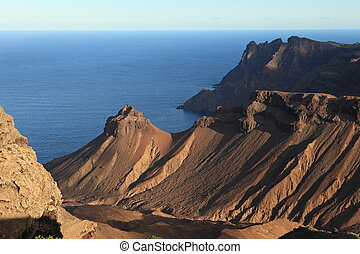 Volcanic coastline of St Helena - The rugged volcanic...