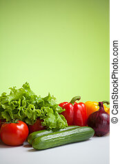 fresh vegetables still life