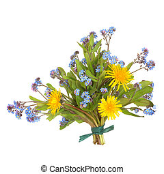 Spring Wildflower Posy - Spring wildflower posy of forget me...