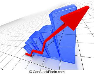 bar statistics - 3D image of statistics