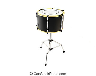 Drum on a tripod on a white background