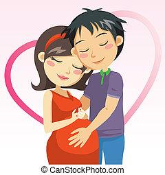 Amor, e, Gravidez