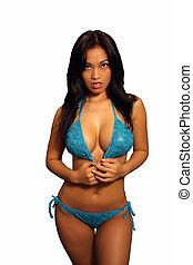 Beautiful Asian Girl in a Bikini (1)
